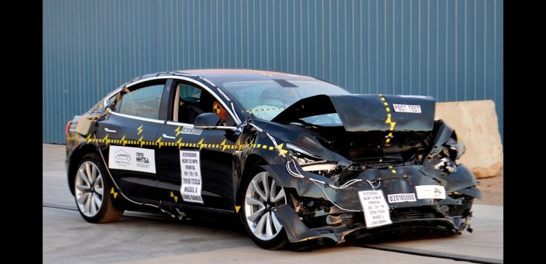 tesla model 3 crashtest